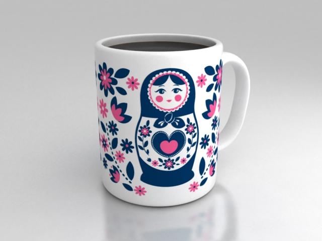 matrioska mug design